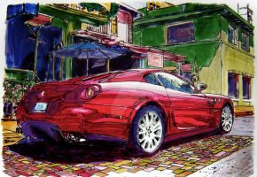 599 on Cumberland Avenue by ferrariartist