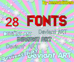 28 Fonts by By-JennuEditions
