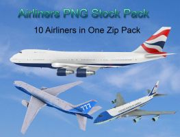 Airliners PNG Stock Pack by Roys-Art