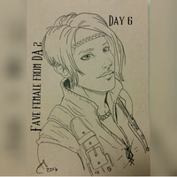 Day 6 - Dragon Age Drawing Challenge by Tinalbion