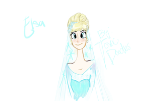 Elsa Wedding head shot by Toxic-Doodles