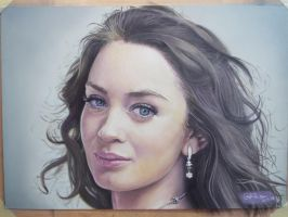 Emiley Blunt Portrait by Gareth-Jenkinson-Art