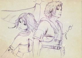 Tidus and Yuna by PainePunisher