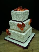 Scrabble Wedding Cake by Spudnuts