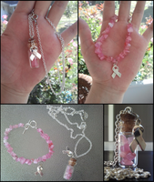 Breast Cancer Jewelry Set by ChromaCosplay