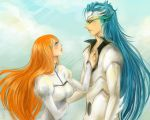 Grimmjow and Orihime by Excel-K