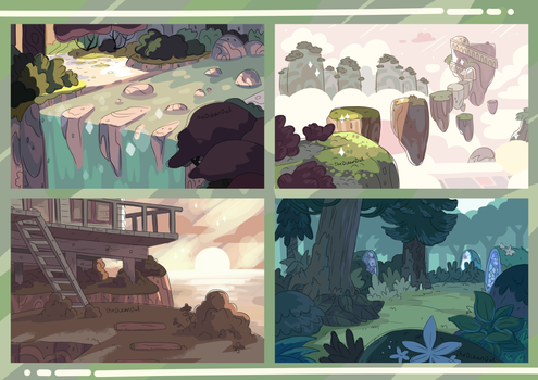Steven Universe Backgrounds by TheOceanOwl