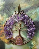 Home of the Purple Fae *SOLD* by RachaelsWireGarden