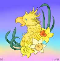 Chocobo Line Art By Katvangent colored by DesiPooted