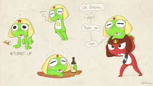Drunk Space Frog by YellowHellion