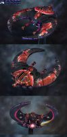 Necron NighScythe: 40k fighter by Atropos907