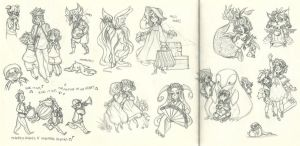 Assorted Fanart Scribbles 2 by ehllychan