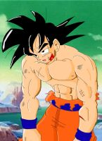 Injured Son Goku Color Proto by Haseowolf