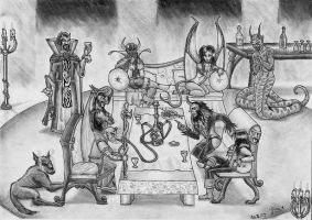 Asmodeus' court by Fernoll