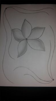 Flower sketch by Cassi4you