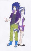 Sasuke and Hinata Road to Ninja version by pandamade