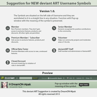 NEW Username Symbols Suggestion Version 1.0. by DreamON-Mpak