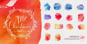 Watercolors Christmas Textures by Aramisdream