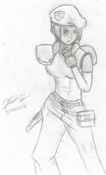 Another MvC2 Jill Sketch by TheFclass97