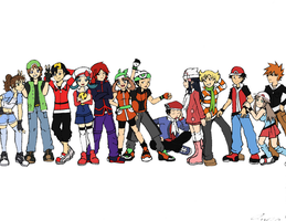 Pokemon Trainers by Akari-K