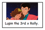 Lupin the 3rd and Rolly stamp by Bjnix248