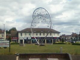 The Catch [Steel Sculpture, Barking Essex, pic 1] by DoctorWhoOne
