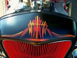 Orange and Red Pinstriping by rioross