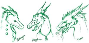 Dragon doodles by kovah