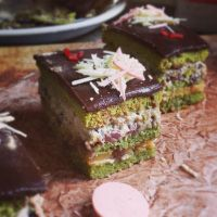 Matcha layered cake by sorekara