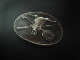 Silver steer skull belt buckle by flintlockprivateer