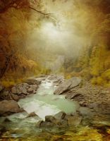 PREMIUM background - Autumn Stream by Euselia