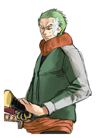 OP Winter series: Zoro by kirayukari
