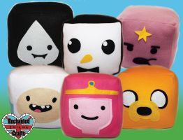 Adventure Time Plush Cubes by amber-enigma