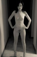 Hallway Nude - Attitude by BrianMPhotography