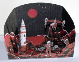 Ici... la lune - Vintage French Papercraft by SarienSpiderDroid