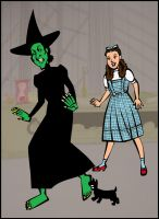Toto Bites Wicked Witch's Foot by timelike01