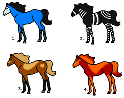 Bree's Horse Adoptables 1 by MorningTears