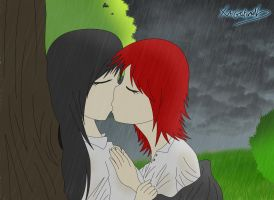 Rainy kiss by xaiGatomon