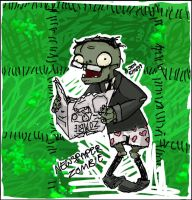 NEWSPAPER ZOMBIE by Jennifire