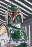 Star Wars GF S2 - Boba Fett Sketch Art Card by DenaeFrazierStudios