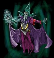 Illithid - Mindflayer, colour. by flamencofrog