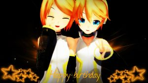 .: Happy Birthday, Rin and Len :. by IGetHighWithPeelz