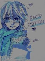 Kaito shion doodle (copics, scanned) by Gumball-Star7