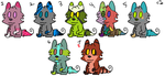 Wolf Pup Adoptables (OPEN) by CuddleTrumpet