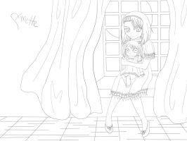 She is my Sister. -lineart- by Funsized-Not-Short