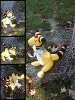 Gift Plushie: Ampharos by MouseAlchemist