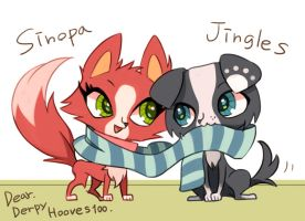 Jingles and Sinopa! by masssssan
