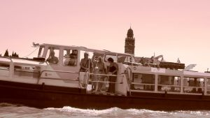 Venice, Italy: tourists on board by st2wok
