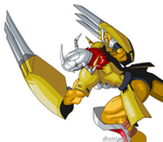 Wargreymon Ready to Fight by Santiatier