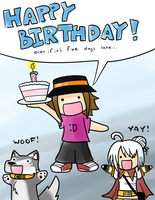 Happy cough-late-cough B-DAY by eyfey